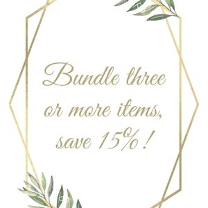 Bundle 3+ items, save 15%!